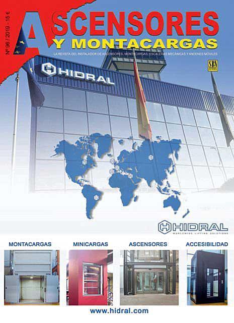 Hidral en couverture sur le journal Ascensores y Montacargas